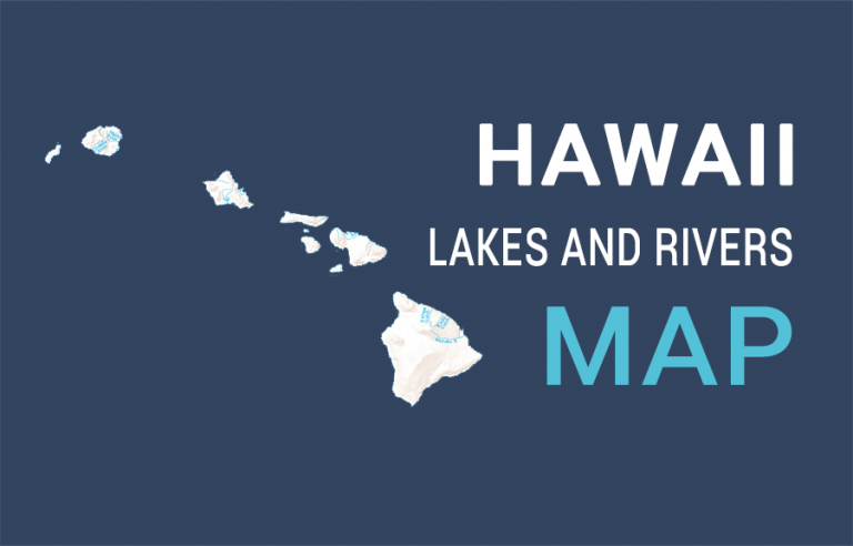 Hawaii Rivers and Channels Map