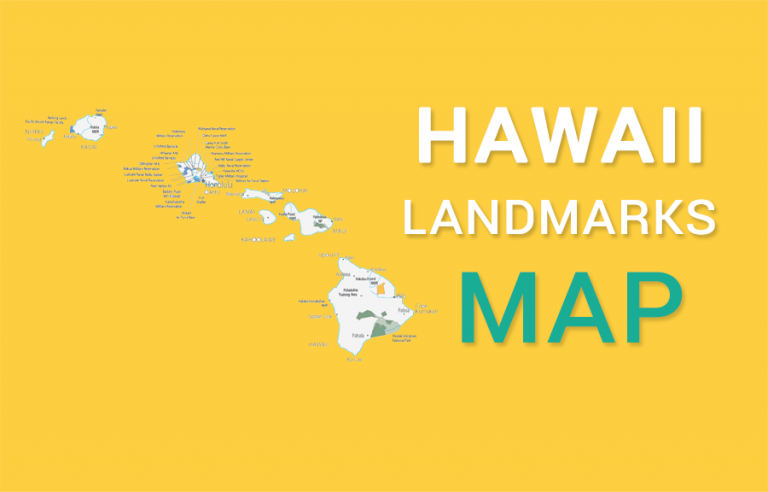 Hawaii State Map – Places and Landmarks