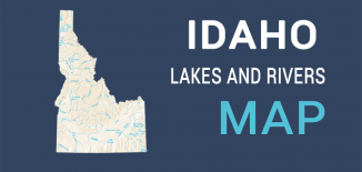 Idaho Lakes Rivers Map Feature