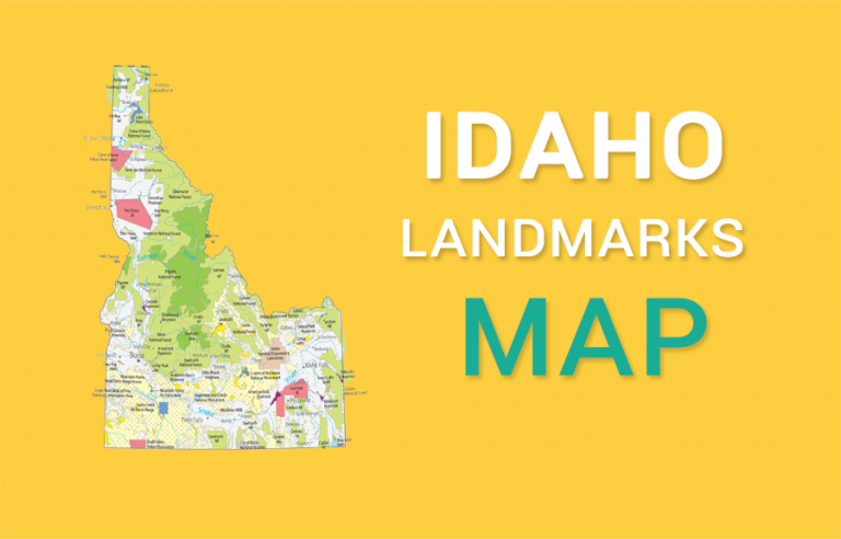 Idaho State Map – Places and Landmarks