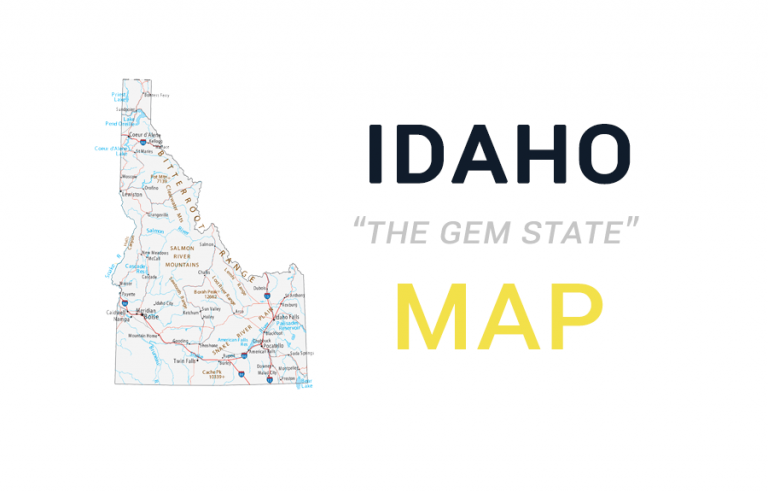 Map of Idaho – Cities and Roads