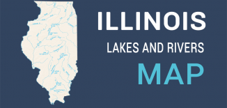 Illinois Lakes Rivers Map Feature