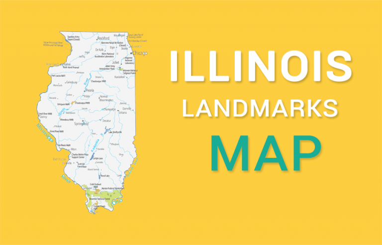 Illinois State Map – Places and Landmarks