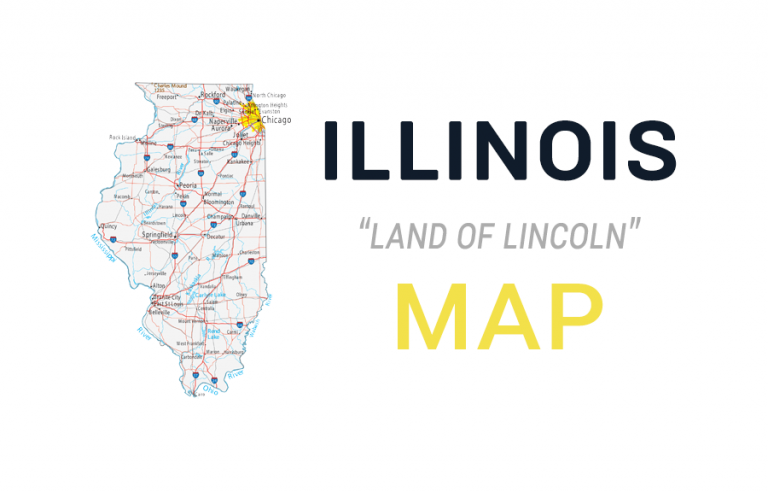 Map of Illinois – Cities and Roads