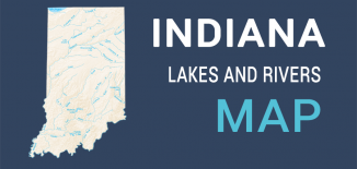Indiana Lakes Rivers Map Feature