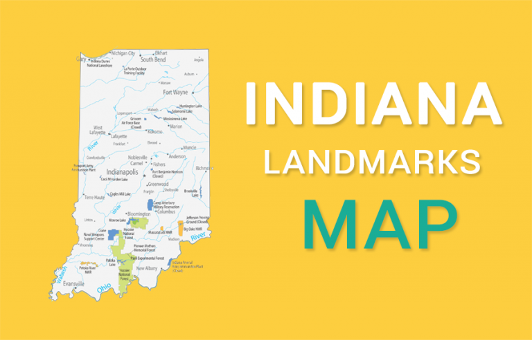 Indiana State Map – Places and Landmarks