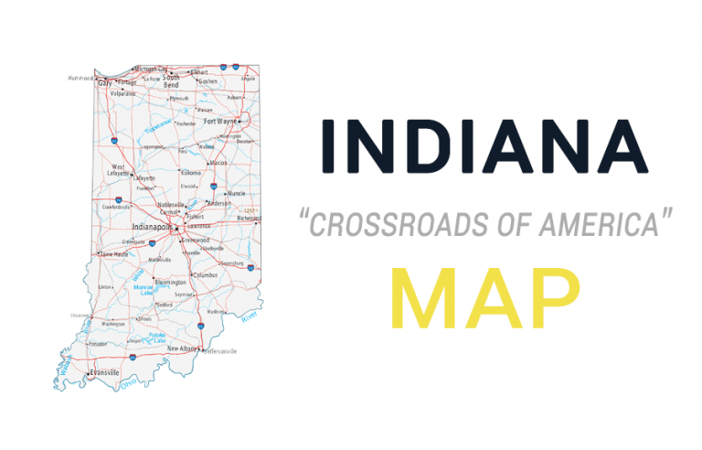 Map of Indiana – Cities and Roads
