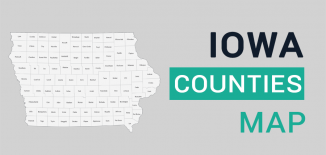 Iowa County Map Feature