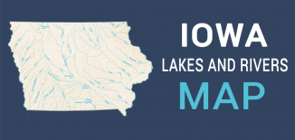 Iowa Lakes Rivers Map Feature