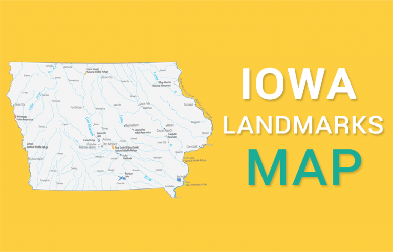 Iowa State Map – Places and Landmarks