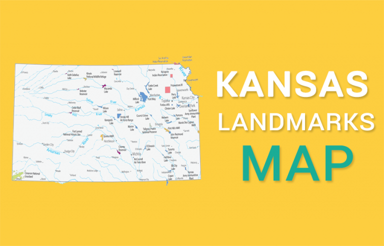 Kansas State Map – Places and Landmarks