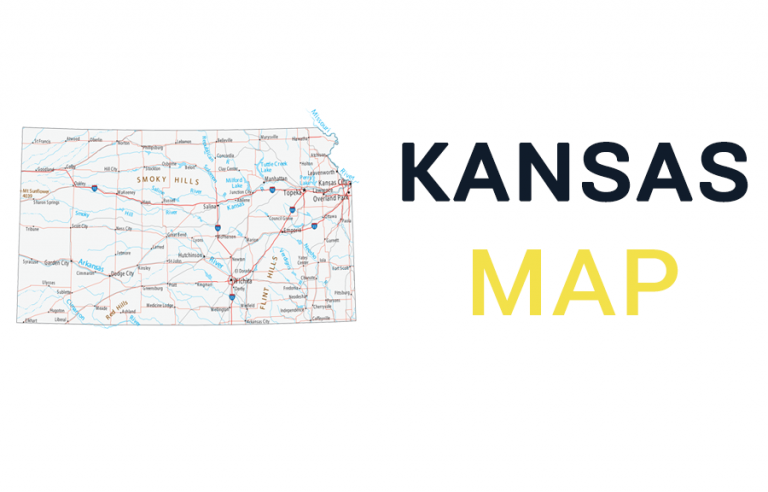 Map of Kansas – Cities and Roads