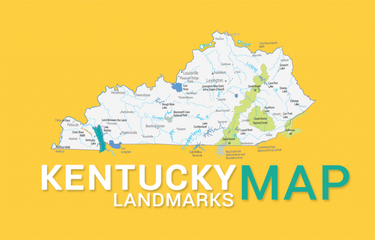 Kentucky State Map – Places and Landmarks