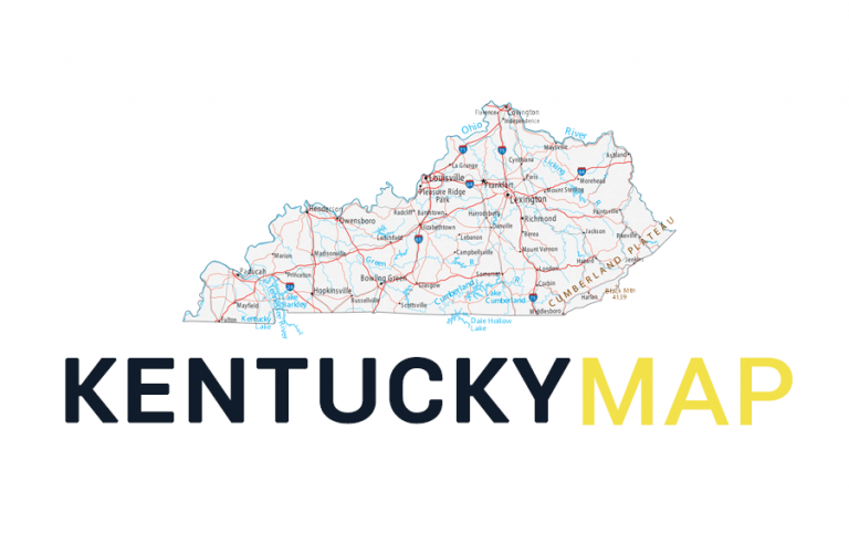 Map of Kentucky – Cities and Roads
