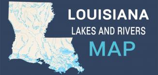 Louisiana Lakes Rivers Map Feature
