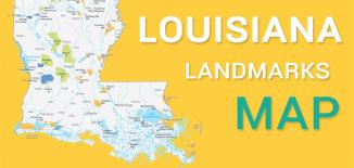 Louisiana Landmarks Map Feature