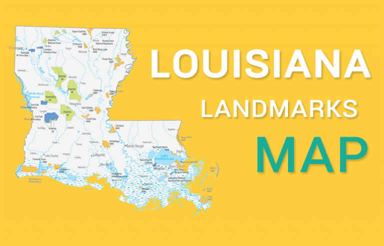 Louisiana State Map – Places and Landmarks