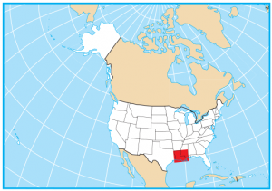 Louisiana Map Extent