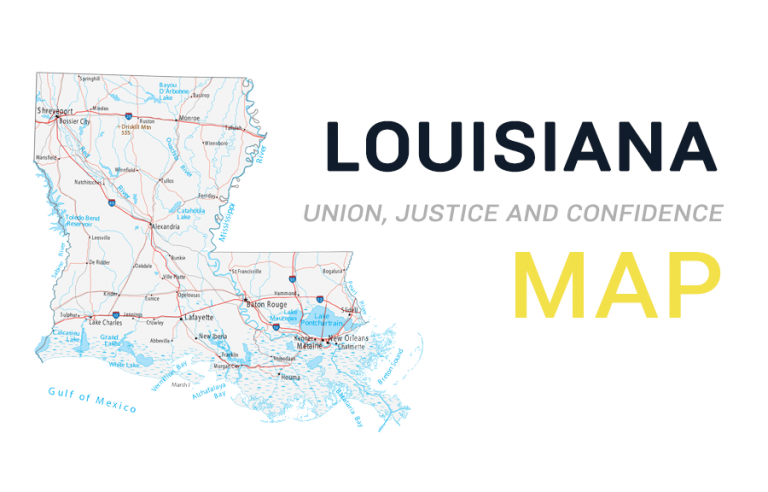 Map of Louisiana – Cities and Roads