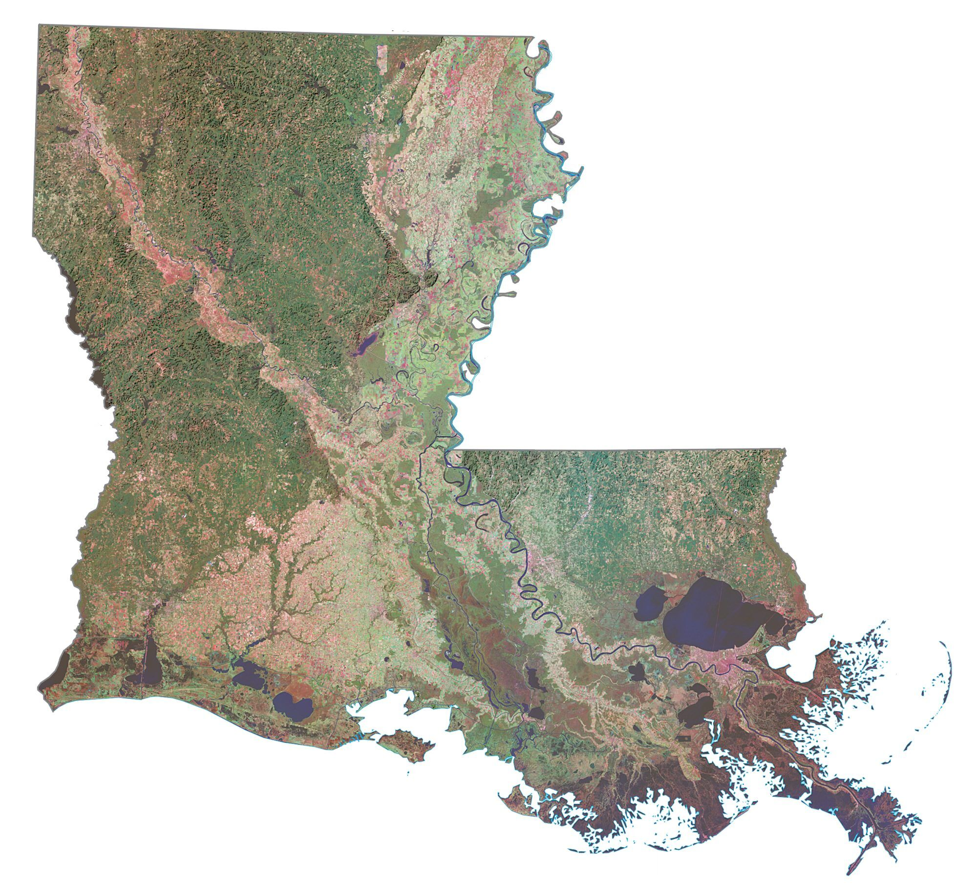 Map Of Louisiana Cities And Roads Gis Geography