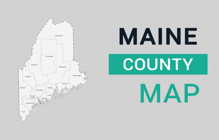 Maine County Map
