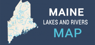 Maine Lakes Rivers Map Feature