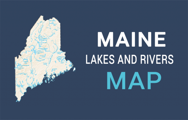 Maine Lakes and Rivers Map