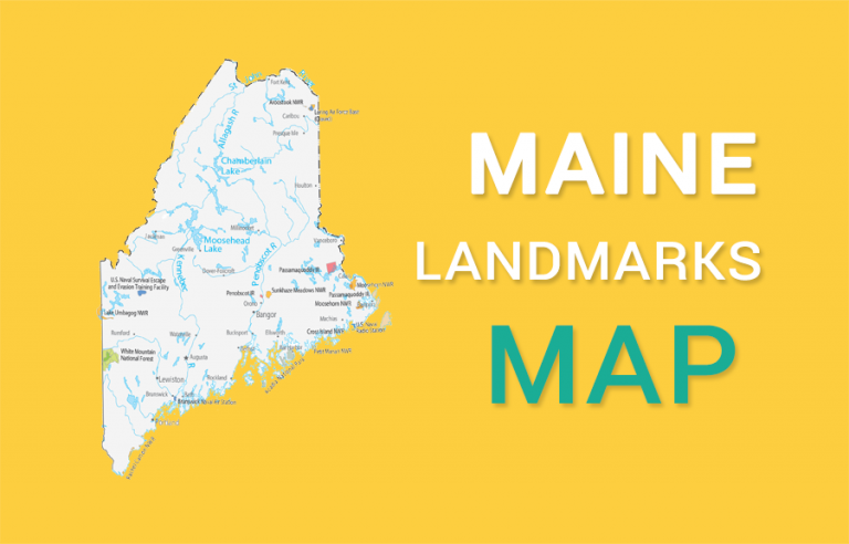 Maine State Map – Places and Landmarks