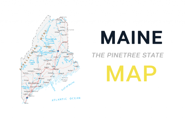 Map of Maine – Cities and Roads