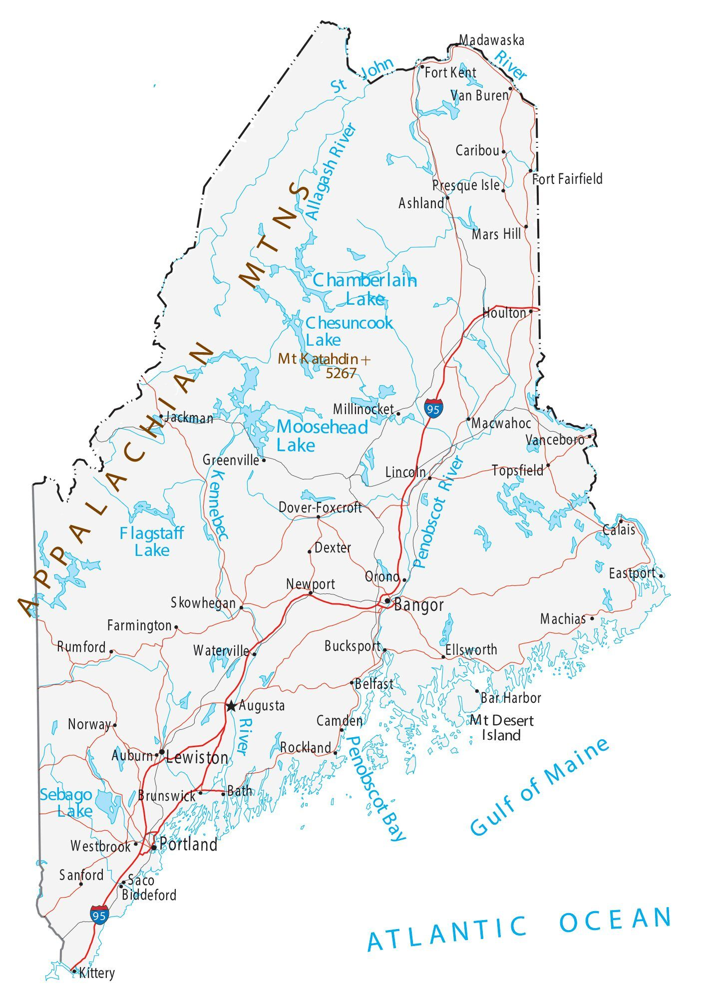 map of southern maine towns Map Of Maine Cities And Roads Gis Geography map of southern maine towns