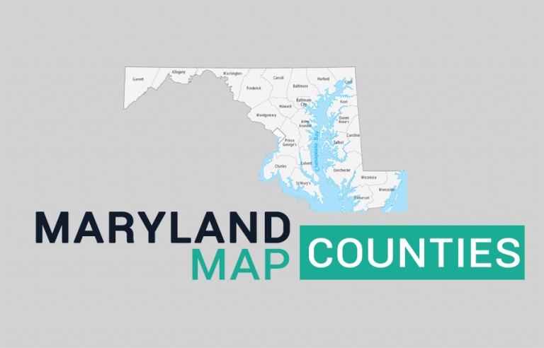 Maryland County Map and Independent City