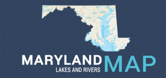 Maryland Lakes Rivers Map Feature