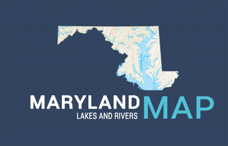 Maryland Lakes and Rivers Map