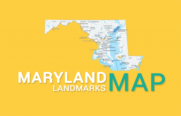 Maryland State Map – Places and Landmarks