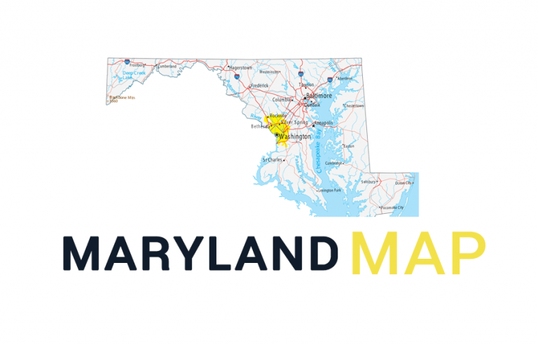 Map of Maryland – Cities and Roads