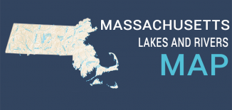 Massachusetts Lakes Rivers Map Feature