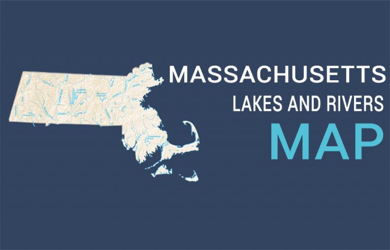 Massachusetts Lakes and Rivers Map