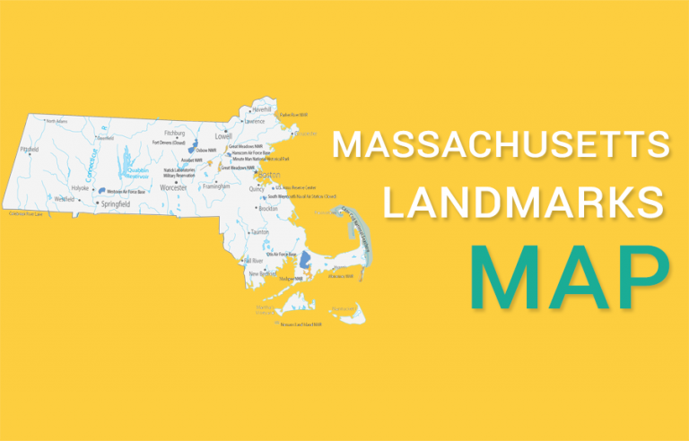 Massachusetts State Map – Places and Landmarks