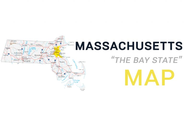 Map of Massachusetts – Cities and Roads