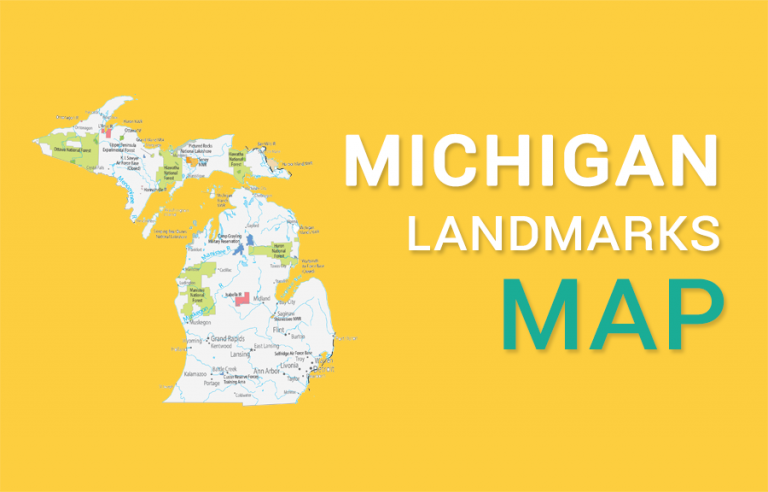 Michigan State Map – Places and Landmarks