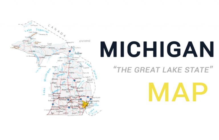 Map of Michigan – Cities and Roads