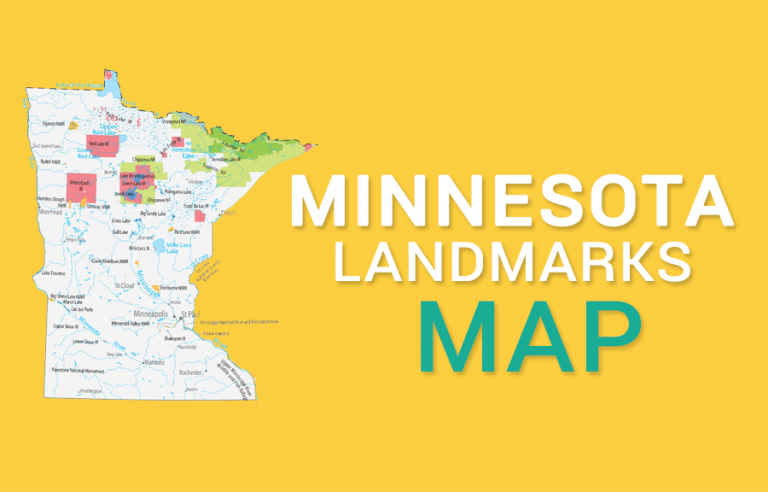 Minnesota State Map – Places and Landmarks