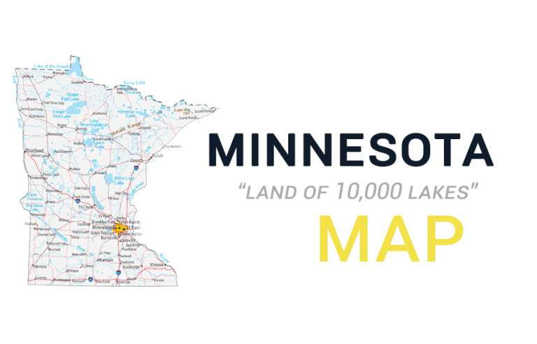 Map of Minnesota – Cities and Roads