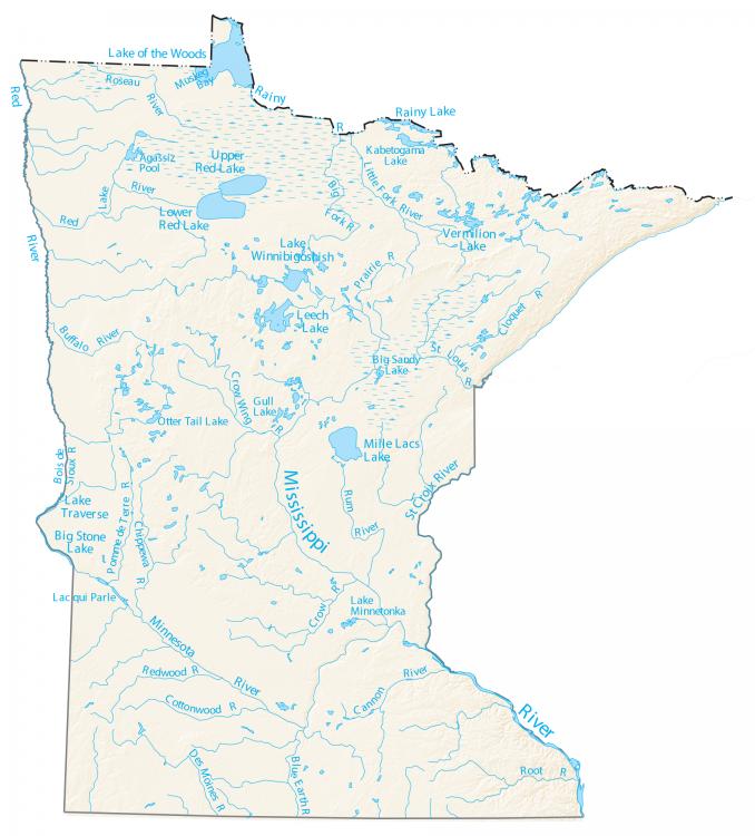 Minnesota River Lakes Map
