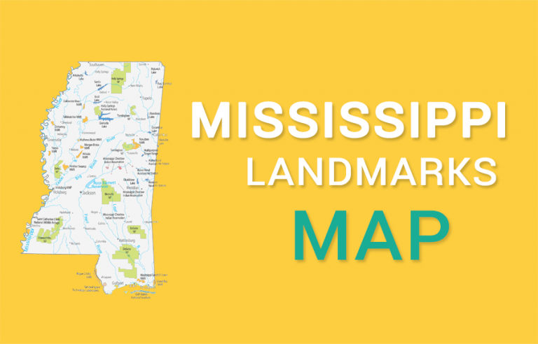 Mississippi State Map – Places and Landmarks