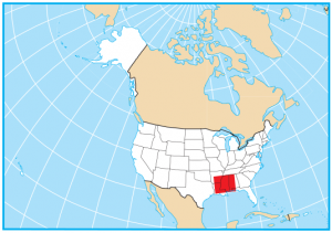 Mississippi Map Extent