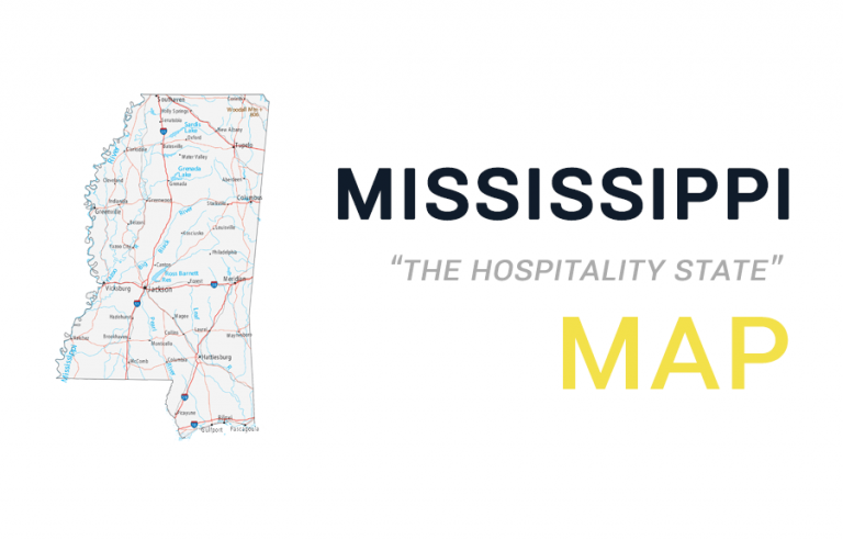 Map of Mississippi – Cities and Roads