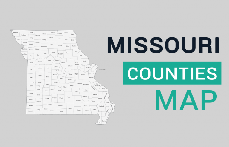 Missouri County Map and Independent City