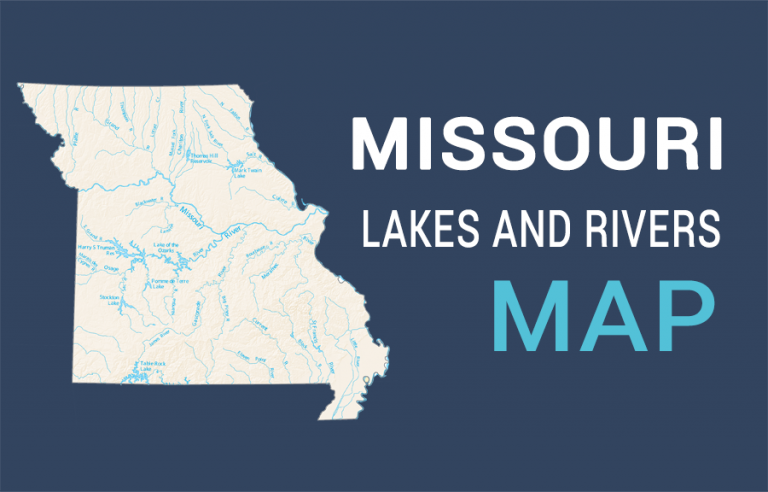 Missouri Lakes and Rivers Map