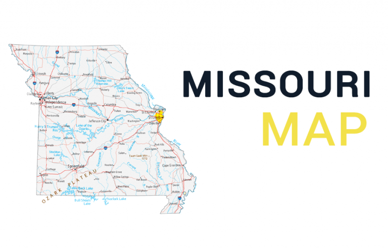 Map of Missouri – Cities and Roads